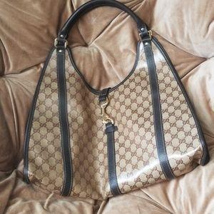 Gucci Crystal GG push Lock Bardot